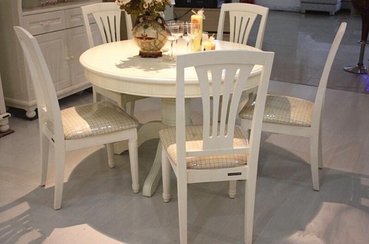 全友家居正品 家具 田纳西系列圆形餐桌椅田园风格