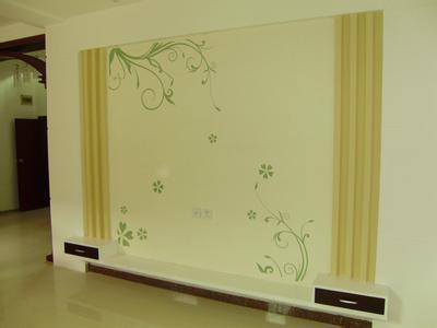 硅藻泥-电视背景墙