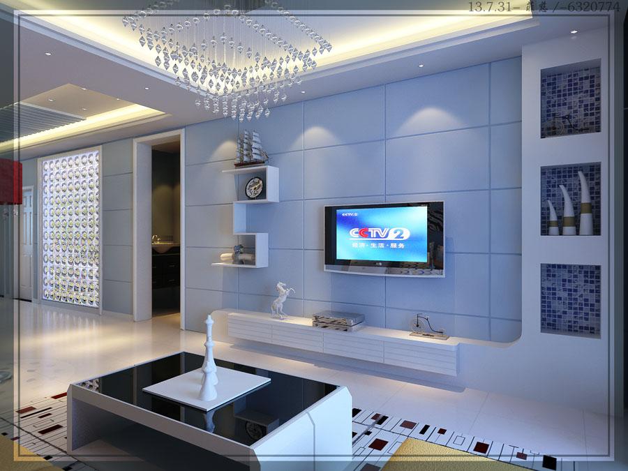 欧式pu电视墙效果图